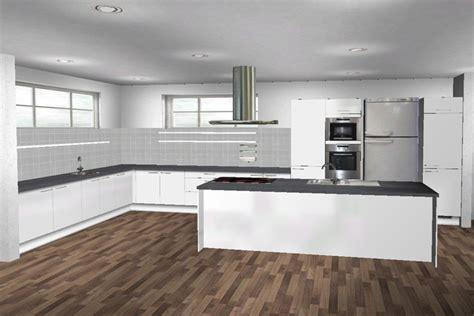 neue einbauküche wohnzimmer tapeten rot