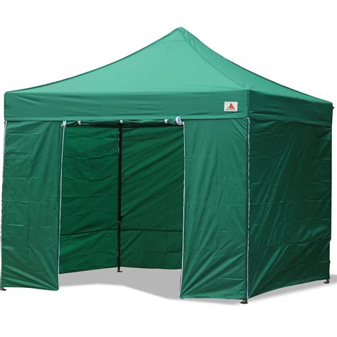 10x10 Awnings Canopies Abccanopy 10x10 Forest Green Deluxe Ez Pop Up Canopy