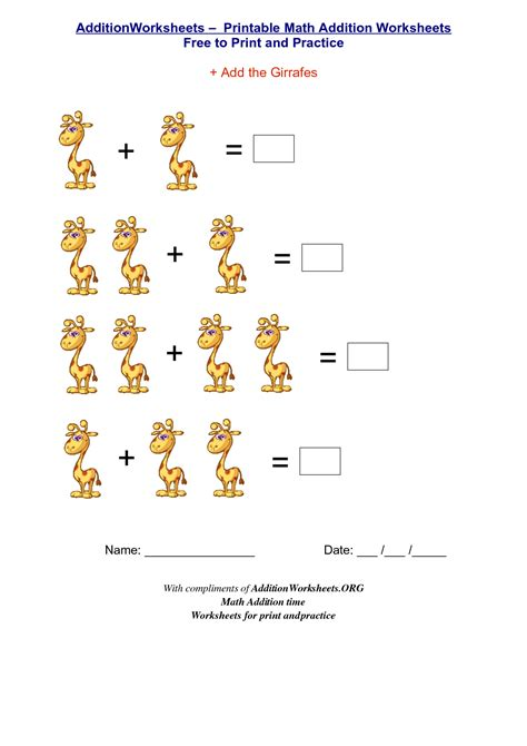 Printable Kindergarten Worksheets by Free Addition For Kindergarten Coloring Pages