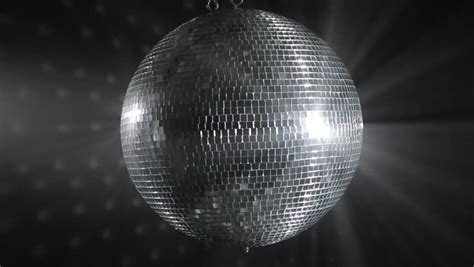 Shiny Mirror Balls Digital Mirror by Silver Shiny Disco On Black Background Stock Footage