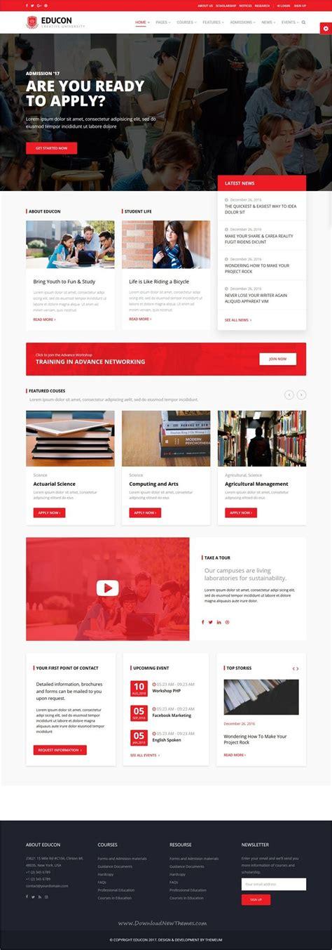 themeforest university 25 beautiful college website ideas on pinterest