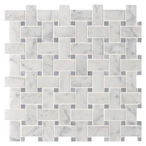 white carrara bardiglio polished basket weave marble