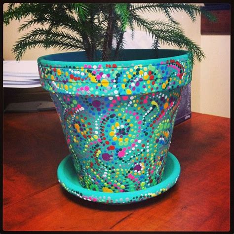 Handmade Pot Painting - 25 best ideas about painted plant pots on