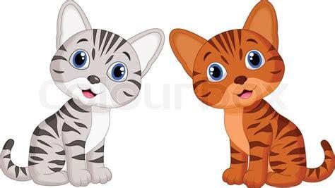 Vector illustration of Cute baby cat cartoon   Stock