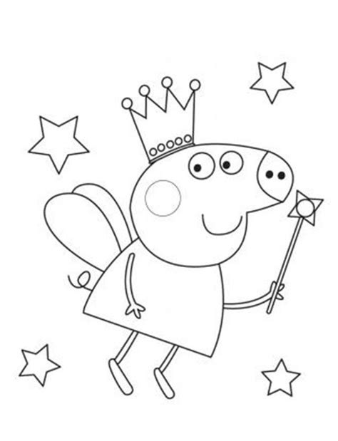 Peppa Pig Fairy Coloring Pages | peppa pig drawing coloring home