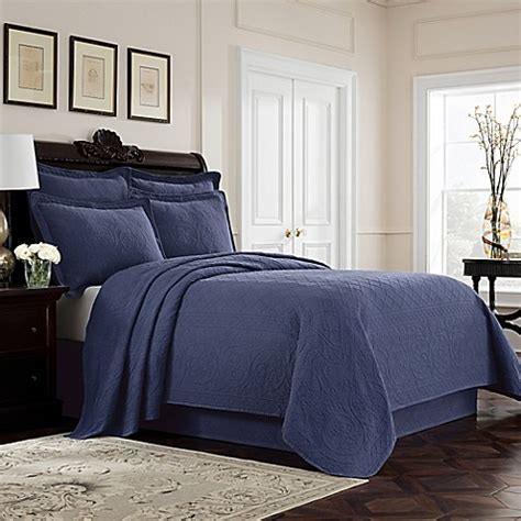 bed bath and beyond williamsburg buy williamsburg richmond twin coverlet in blue from bed