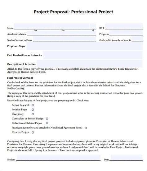 business bid template professional template 7 documents in