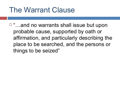Which Has The Power To Issue Search Warrants Fourth Amendment