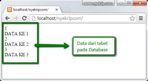 Cd Tutorial Cara Koneksi Php Ke Mysql cara koneksi database mysql dengan php nyekrip