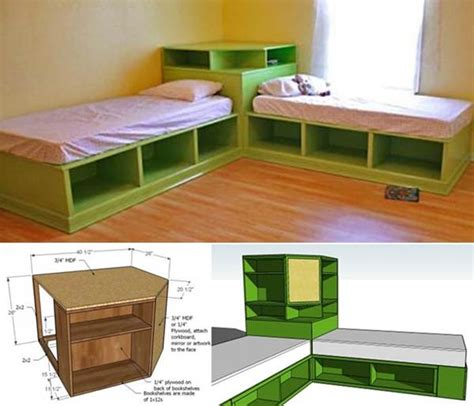 corner unit twin beds how to diy corner unit for the twin storage bed