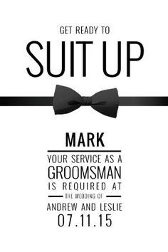 groomsman card template groomsmen home shop by style block this