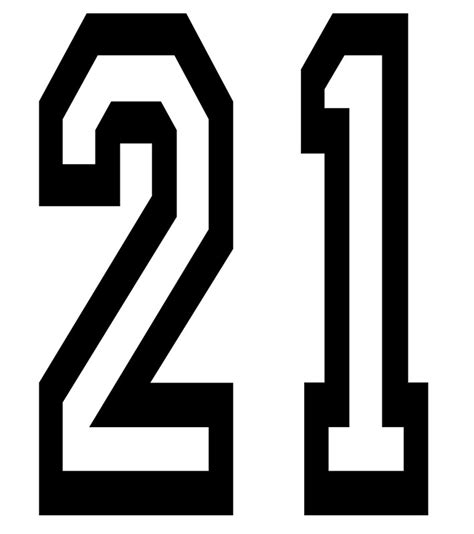 printable sports numbers quot 21 team sports number 21 twenty one twenty first two