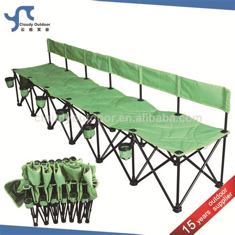 Pvc Bench Seat Double Seat Camping Chair 2 Seats Camping Portable Folding
