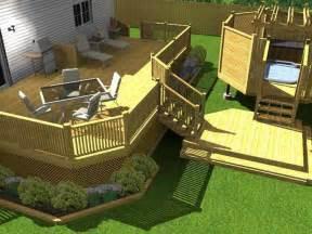bloombety cheap backyard deck ideas with render cheap