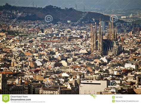 barcelona aerial view aerial view of barcelona royalty free stock photo image
