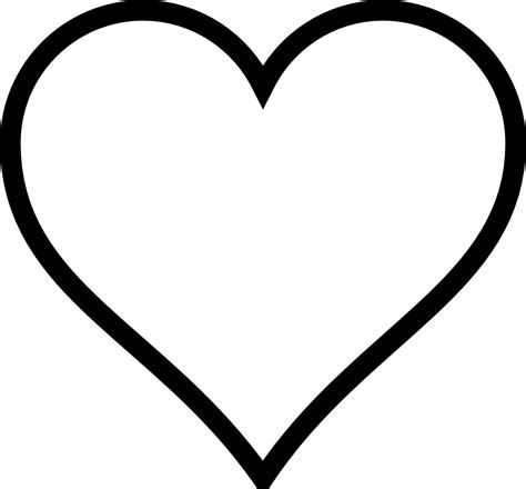 clipart heart coloring page black and white hearts clip art clipart best