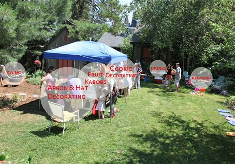 how to set up a backyard party sam s 5th top chef birthday party stately kitsch