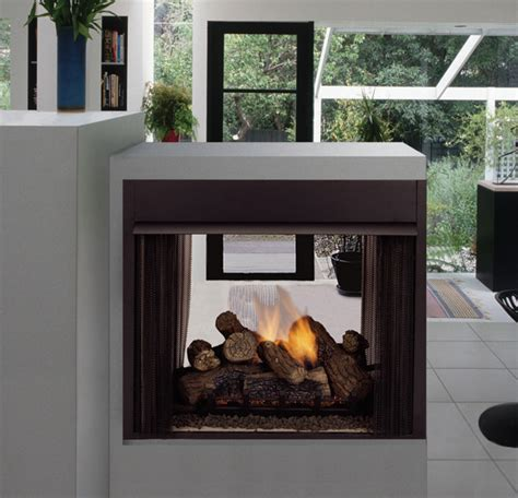 See Through Ventless Gas Fireplace by Monessen See Through Corner And Penninsula Fireplaces