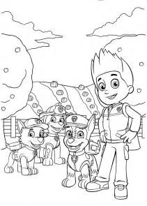 paw patrol color free coloring pages of paw patrol rocky
