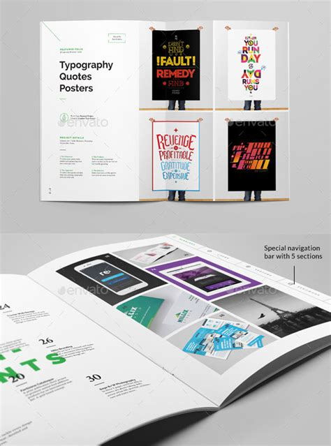 25 really awesome portfolio brochure templates web