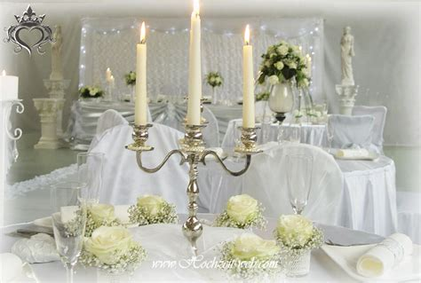 Hochzeitsdekoration Und Tischdekoration In Silber Farbe