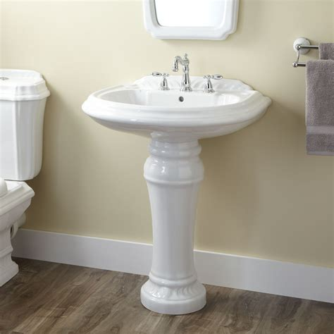 Pedestal Vanity Sink by Julian Porcelain Pedestal Sink Pedestal Sinks Bathroom