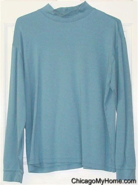 light blue turtleneck mens ll bean mens 100 cotton light blue long sleeve mock