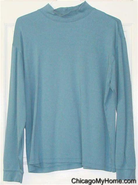 light blue turtleneck mens ll bean mens 100 cotton light blue sleeve mock