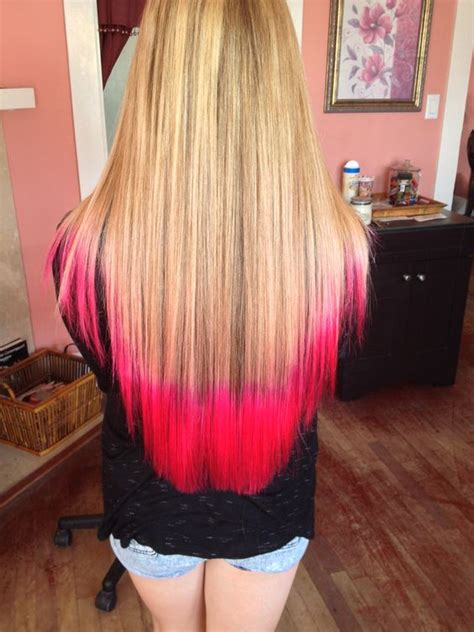 hair with colored tips atomic pink tips with hair colored tips
