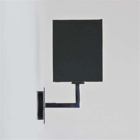 astro connaught polished chrome wall light with black