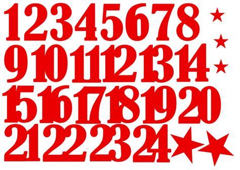 Aufkleber Zahlen 1 24 by Zahlen Aufkleber F 252 R Adventskalender Rot