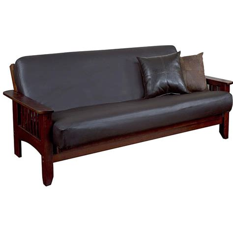 leather futon cover faux leather futon covers bm furnititure