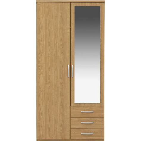 Argos Mirrored Wardrobes by Buy Collection New Hallingford 2 Dr 3 Drw Mirror Wardrobe