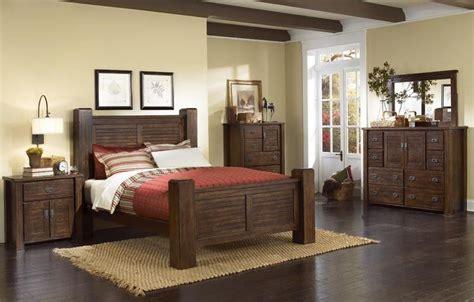 progressive trestlewood bedroom set trestlewood mesquite pine poster bedroom set from