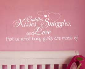 Baby Quote Wall Stickers Wall Decal Quote Sticker Cuddle Kisses Snuggles And Love