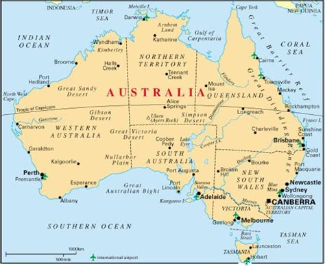map austraila australia travel tips things to do map and best time to