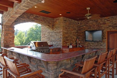 Outdoor Bar Designs With Back Wall Outdoor Kitchen Designs With And Covered Style