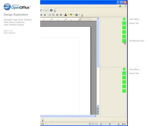 ui layout pane center aoo ux design exploration docked task pane containers