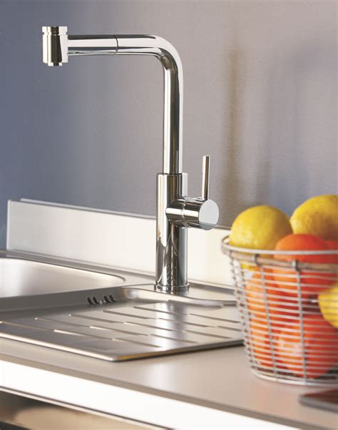 chrome modern kitchen faucet with pull out dual shower milo chrome modern kitchen faucet with pull out dual shower