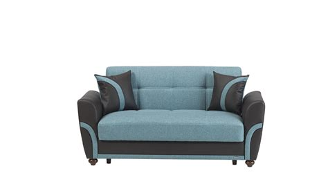 turquoise sofas loveseats star city turquoise loveseat bed by mobista