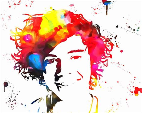paint styles harry styles paint splatter painting by dan sproul