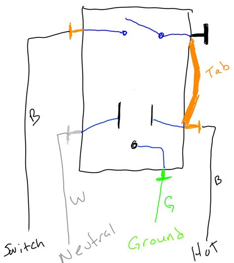 gfci switch combo wiring wiring diagram with description