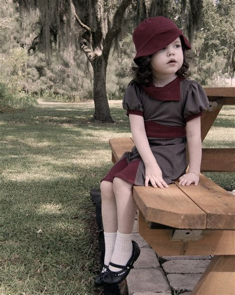 vintage style childrens 1940 s little dress and hat little kids fashion