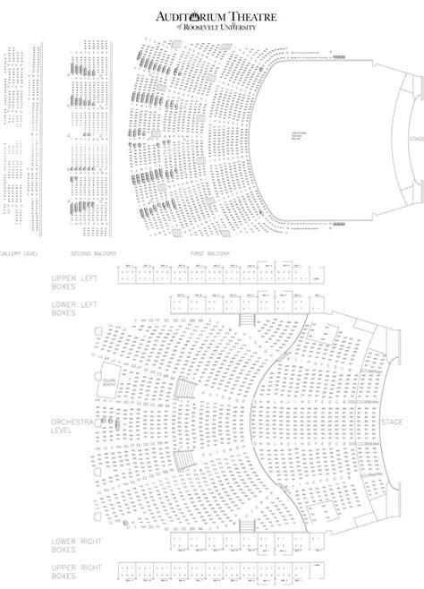 auditorium theater seating auditorium theatre seating chart theatre in chicago