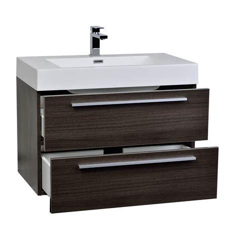 buy  wall mount modern bathroom vanity mirror set grey oak tn    conceptbathscom