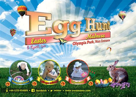 photoshop template easter egg hunt easter flyer template free psd by silentmojo on