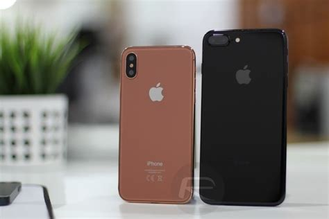 a dummy iphone 8 is compared to previous generations of the handset