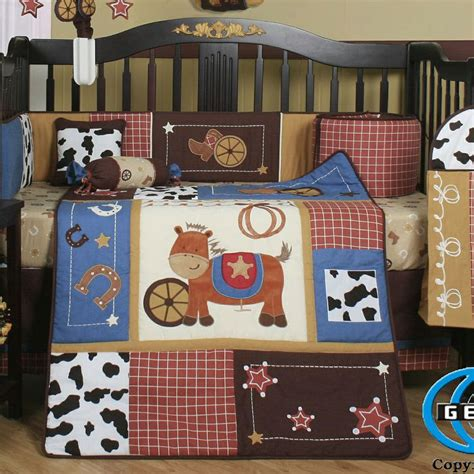 Western Horse Cowboy 13 Piece Crib Bedding Set Cowboy Crib Bedding Sets