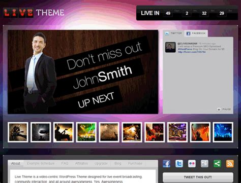 wordpress themes for live tv how to add live stream in wordpress with live theme