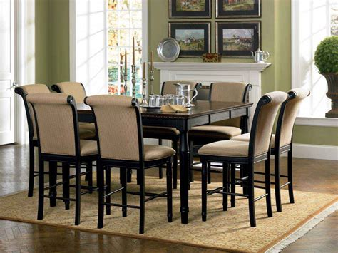 counter height dining room set coaster cabrillo counter height dining set black